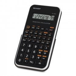 Sharp - EL501XBWH - Sharp EL-501XBWH Scientific Calculator - 131 Functions - 1 Line(s) - 10 Digits - LCD - Battery Powered - 3.3 x 6 x 0.5 - Black, White - 1 Each