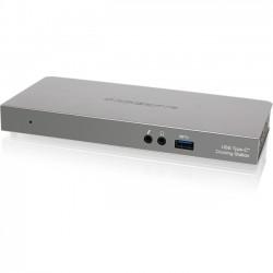 IOGear - GUD3C01 - IOGEAR Docking Station - for Notebook/Desktop PC - USB Type C - 4 x USB Ports - 4 x USB 3.0 - Network (RJ-45) - HDMI - DisplayPort - Audio Line Out - Microphone - Wired