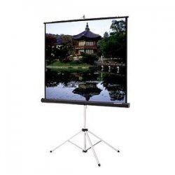 "Da-Lite - 69895 - Da-Lite Picture King Portable and Tripod Projection Screen (Gray carpeted) - 60"" x 60"" - Matte White - 85"" Diagonal"