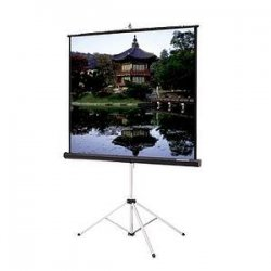 "Da-Lite - 40141 - Da-Lite Picture King Portable and Tripod Projection Screen - 84"" x 84"" - Matte White - 119"" Diagonal"