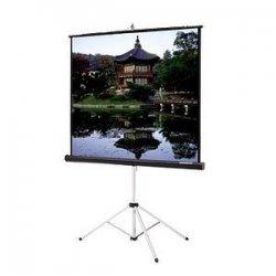 """Da-Lite - 76754 - Da-Lite Picture King Portable and Tripod Projection Screen (Gray carpeted) - 69"""" x 92"""" - Matte White - 120"""" Diagonal"""