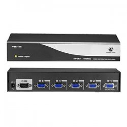 ConnectPro - VSE-105 - Connectpro VSE-105, 5-port 400MHz Video Splitter - 1 x Video In, 5 x Video Out - 2048 x 1536 - VGA, SVGA, XGA, SXGA, UXGA, WUXGA, WSXGA+, QXGA