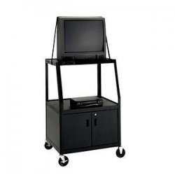 "Da-Lite - 4863 - Da-Lite AV7ULC-49 Pixmobile Cart With Video Cabinet - 3 x Shelf(ves) - 49"" Height x 32"" Width x 22"" Depth"