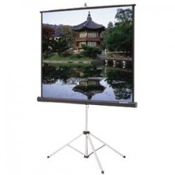 "Da-Lite - 77327 - Da-Lite Picture King Portable and Tripod Projection Screen - 70"" x 70"" - High Power - 99"" Diagonal"
