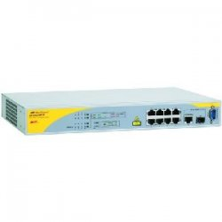 Allied Telesis - AT-8000/8POE-10 - Allied Telesis AT-8000/8PoE Managed PoE Switch - 8 x 10/100Base-TX, 1 x 10/100/1000Base-T