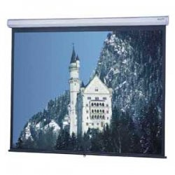 Da-Lite - 83401 - Da-Lite Model C Manual Wall and Ceiling Projection Screen - 45 x 80 - Matte White - 92 Diagonal