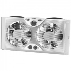 Jarden - HAWF2041 - Holmes HAWF2041 Window Fan - 2 Blades - 228.6 mm Diameter - 3 Speed - Lightweight, Quiet - 13.3 Height x 6 Width - White