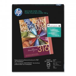 Hewlett Packard (HP) - CH016A - HP Inkjet Print Brochure/Flyer Paper - Letter - 8 1/2 x 11 - 48 lb Basis Weight - Matte - 103 Brightness - 1 / Pack - White