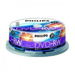 Philips - CDRW80D12/550 - Philips 12x CD-RW Media - 700MB - 25 Pack