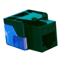 ICC - IC1078E5GN - ICC Cat 5e, EZ, Modular Connector, Green - 1 x RJ-45 Female - Green