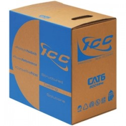 ICC - ICCABR6VBL - ICC CAT 6, 500 UTP Solid Cable, 23G 4P CMR 1K, Blue - Category 6 for Network Device - Patch Cable - 1000 ft - Bare Wire - Bare Wire - Blue