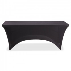 Iceberg - 16521 - Iceberg 6' Stretchable Fabric Table Cover - 1 Each - Polyester, Spandex - Black
