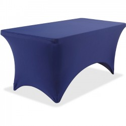 Iceberg - 16526 - Iceberg Stretchable Fitted Table Cover - 1 Each - Fabricel - Blue
