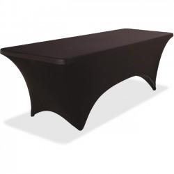 Iceberg - 16531 - Iceberg Stretch Fabric Table Cover - 1 Each - Fabricel - Black