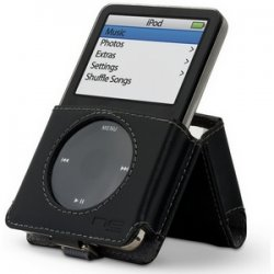 Belkin / Linksys - F8Z068 - Belkin Kickstand Case for 5G iPod - Slide Insert - Leather - Black