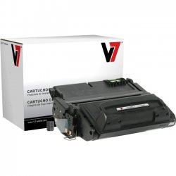 V7 - V742AG - Black Toner Cartridge For HP LaserJet 4240, 4240N, 4250, 4250N, 4250TN, 4250D