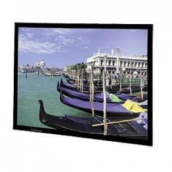 "Da-Lite - 40543 - Da-Lite Perm-Wall Fixed Frame Projection Screen - 59"" x 80"" - Da-Mat - 100"" Diagonal"