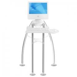 "Rain Design - 10004 - Rain Design iGo Desk Display Stand for iMac - Up to 23"" Monitor - Chrome - Floor-mountable"