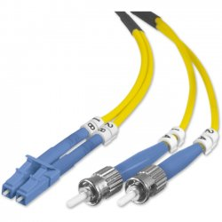 Belkin / Linksys - F2F802L0-01M - Belkin - Patch cable - LC/PC single-mode (M) to ST/PC single-mode (M) - 3.3 ft - fiber optic - 8.3 / 125 micron - OS1 - yellow - B2B
