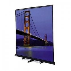 "Da-Lite - 40285 - Da-Lite Floor Model C Manual Wall and Ceiling Projection Screen - 144"" x 144"" - Matte White - 203"" Diagonal"