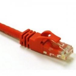 C2G (Cables To Go) - 31365 - C2G-75ft Cat6 Snagless Unshielded (UTP) Network Patch Cable - Red - Category 6 for Network Device - RJ-45 Male - RJ-45 Male - 75ft - Red