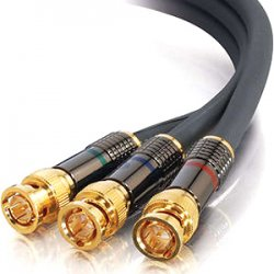 C2G (Cables To Go) - 29794 - C2G 25ft SonicWave BNC Component Video Cable - BNC Male - BNC Male - 25ft - Charcoal