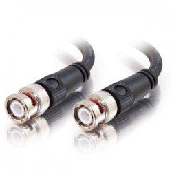 C2G (Cables To Go) - 40030 - C2G 50ft 75 Ohm BNC Cable - BNC Male - BNC Male - 50ft - Black