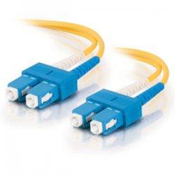 C2G (Cables To Go) - 12505 - 3m SC-SC 9/125 OS1 Duplex Singlemode PVC Fiber Optic Cable - Yellow - Fiber Optic for Network Device - SC Male - SC Male - 9/125 - Duplex Singlemode - OS1 - 3m - Yellow