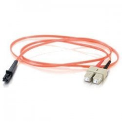 C2G (Cables To Go) - 33153 - 30m MTRJ-SC 62.5/125 OM1 Duplex Multimode PVC Fiber Optic Cable - Orange - Fiber Optic for Network Device - SC Male - MTRJ Male - 62.5/125 - Duplex Multimode - OM1 - 30m - Orange