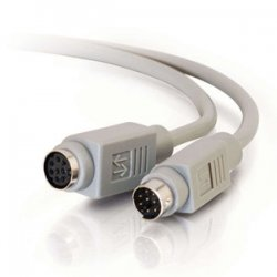 C2G (Cables To Go) - 09569 - C2G 10ft 8-pin Mini Din M/F Serial Extension Cable - mini-DIN Male - mini-DIN Female - 10ft - Beige