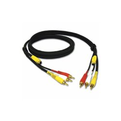 C2G (Cables To Go) - 29153 - C2G 6ft Value Series 4-in-1 RCA + S-Video Cable - 6ft - Black