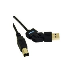 C2G (Cables To Go) - 30513 - C2G 6ft FlexUSB USB 2.0 A/B Cable - Type A USB - Type B USB - 6ft - Black