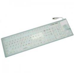 Grandtec - FLX-7000 - Grandtec FLX-7000 Keyboard - USB - 109 Keys - White