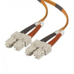 Belkin / Linksys - A2F40277-03 - Belkin - Patch cable - SC/PC multi-mode (M) to SC/PC multi-mode (M) - 3 ft - fiber optic - 50 / 125 micron - OM2 - orange