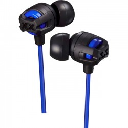 JVC - HAFX103MA - JVC Xtreme Xplosives HA-FX103M Earset - Stereo - Blue - Wired - 5 Hz - 20 kHz - Gold Plated - Earbud - Binaural - In-ear - 3.94 ft Cable