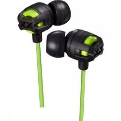 JVC - HAFX103MG - JVC Xtreme Xplosives HA-FX103M Earset - Stereo - Green - Wired - 5 Hz - 20 kHz - Gold Plated - Earbud - Binaural - In-ear - 3.94 ft Cable