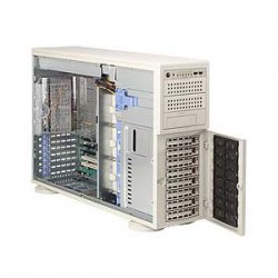 Supermicro - SYS-7045B-8R+ - Supermicro SuperServer 7045B-8R+ Barebone System - Intel 5000P - LGA771 Socket - Xeon (Quad-core), Xeon (Dual-core) - 1333MHz, 1066MHz, 800MHz Bus Speed - 64GB Memory Support - Gigabit Ethernet - 4U Tower