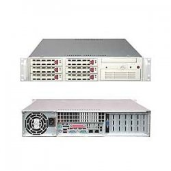 Supermicro - SYS-6025B-T - Supermicro SuperServer 6025B-T Barebone System - Intel 5000P - LGA771 Socket - Xeon (Quad-core), Xeon (Dual-core) - 1333MHz, 1066MHz, 800MHz Bus Speed - 32GB Memory Support - DVD-Reader (DVD-ROM) - Gigabit Ethernet - 2U Rack