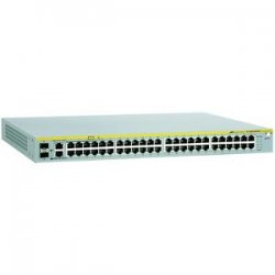 Allied Telesis - AT-8000S/48POE-10 - Allied Telesis AT-8000S/48POE-10 Managed Fast Ethernet Switch - 48 x 10/100Base-TX, 2 x 10/100/1000Base-T, 2 x