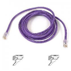 Belkin / Linksys - A3L791-10-PUR-S - Belkin Cat5e Patch Cable - RJ-45 Male - RJ-45 Male - 10ft - Purple