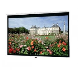 "Da-Lite - 40223 - Da-Lite Deluxe Model B Manual Wall and Ceiling Projection Screen - 60"" x 60"" - Matte White - 85"" Diagonal"