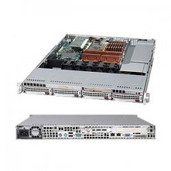 Supermicro - SYS-6015B-3V - Supermicro SuperServer 6015B-3V Barebone System - Intel 5000P - LGA771 Socket - Xeon (Quad-core), Xeon (Dual-core) - 1333MHz, 1066MHz, 800MHz Bus Speed - 32GB Memory Support - DVD-Reader (DVD-ROM) - Gigabit Ethernet - 1U Rack