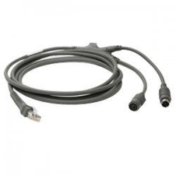 Motorola - CBA-K01-S07PAR - Motorola, 7 Ft, Keyboard Wedge Cable, Ps/2, Power Port, Straight
