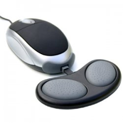 Ergoguys - HM68947 - MouseBean Ergonomic Hand Rest Black & Grey - Non-toxic, Washable - Deep Black