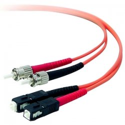 Belkin / Linksys - A2F20207-01M - Belkin Duplex Fiber Optic Patch Cable - SC Male - ST Male - 3.28ft - Orange