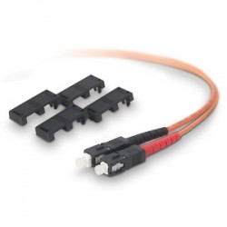 Belkin - A2F20277-02M - Belkin Fiber Optic Duplex Patch Cable - SC Male - SC Male - 6.56ft - Orange