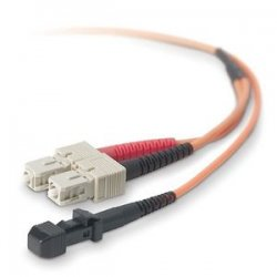 Belkin / Linksys - F2F20297-03M - Belkin Fiber Optic Duplex Patch Cable - MT-RJ Male - SC Male - 9.84ft - Orange