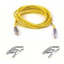 Belkin - A3X126-07RED-YB - Belkin Cat. 5E UTP Patch Cable - RJ-45 Male - RJ-45 Male - 7ft - Red, Yellow