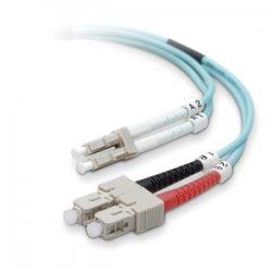 Belkin / Linksys - F2F402L7-10M-G - Belkin Fiber Optic Duplex Patch Cable - LC Male - SC Male - 32.81ft - Aqua