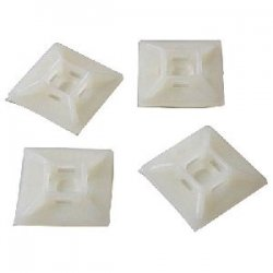 StarTech - HC102 - StarTech.com Self-adhesive Nylon Cable Tie Mounts - Pkg of 100 - Cable Tie Mount
